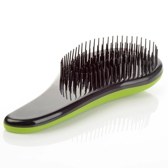 Щётка для распутывания волос Detangler, 18.5 см, цвет зеленый