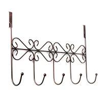Винтажная планка с 5-ю крючками для крепления на дверь, 38х23 см (3)