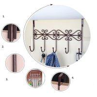 Винтажная планка с 5-ю крючками для крепления на дверь, 38х23 см (5)