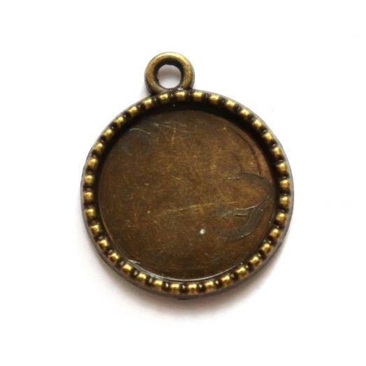 Рамка сеттинг, №11, Корона, старая бронза, 1 шт/упак
