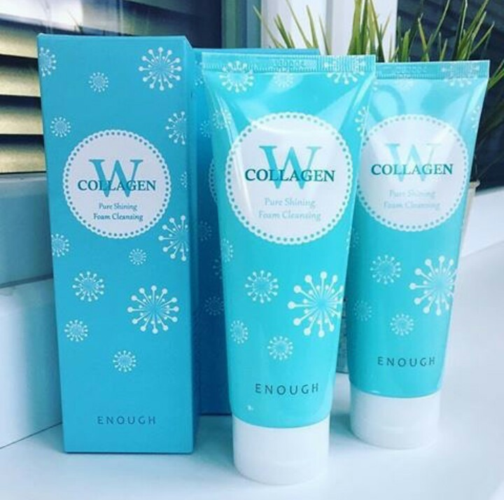 Пенка для умывания ENOUGH W Collagen Pure Shining Foam Cleansing 100мл