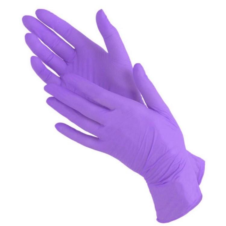 Перчатки нитриловые н/о (сиреневые) Benovy 50пар/уп