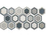 Traffic Combi Grey HEX 25 плитка напольная 25х22 (микс разных рисунков в 1 коробке)