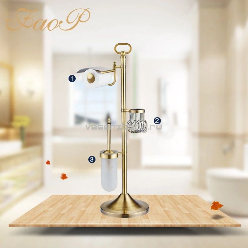 Faop A901-4 Стойка 3-х функциональная для ванной (бронза)