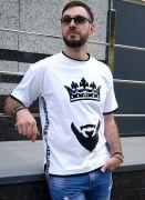 футболка борода и корона