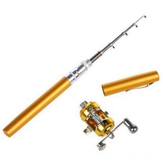 Карманная удочка в виде ручки Fishing Rod in Pen Case, Цвет: Жёлтый