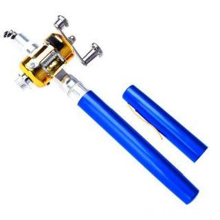 Карманная удочка в виде ручки Fishing Rod in Pen Case, Цвет: Синий