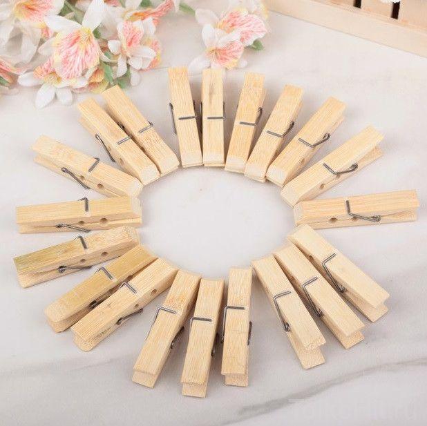 Набор бамбуковых бельевых прищепок Xintong 6 см, 20 шт