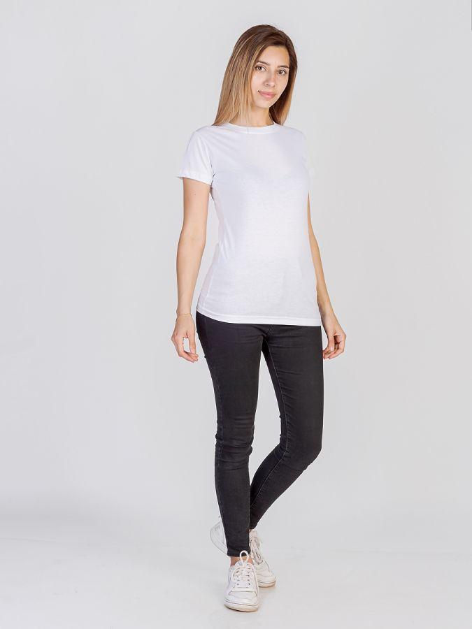 футболка женская без принта Белая