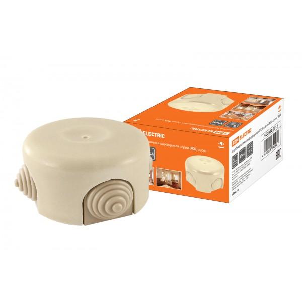 TDM Коробка распаячная фарфоровая D7,8х4,5см «ЭКО» сосна SQ2802-0012