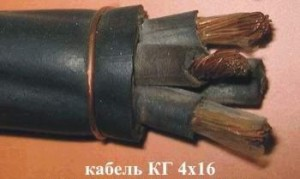Кабель КГтп 4х16 (ГОСТ) силовой медный гибкий дв. изоляция резина от -40С до +50°С 660В