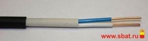 Кабель ВВГнг-FRLS 2х2,5 (ГОСТ) сил. медн. негор. огнестойк., дв. изоляция ПВХ, пониж. газовыдел.