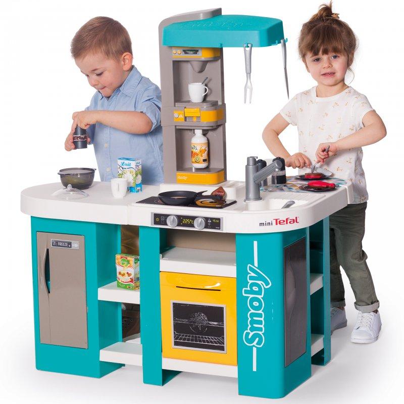 Интерактивная кухня Smoby Tefal Studio Bubble голубая 311045
