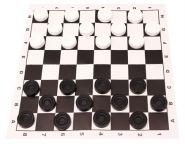 НАСТОЛЬНАЯ ИГРА ШАШКИ В ПАКЕТЕ + поле 28.5х28.5 см БШ (арт. ИН-1832) другой стандарт