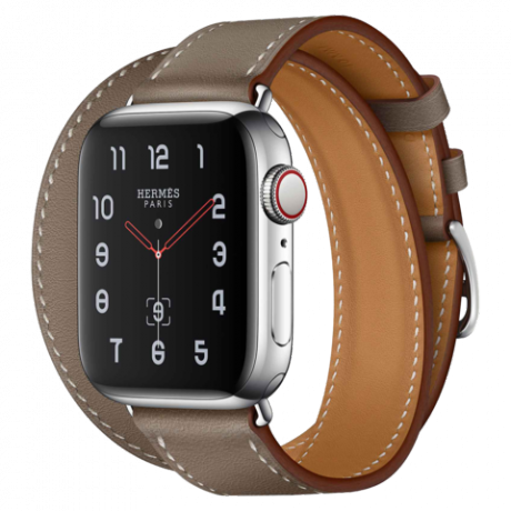 Apple Watch Hermes Series 4 Stainless Steel 40mm GPS + Cellular Eutope Swift Leather Double Tour
