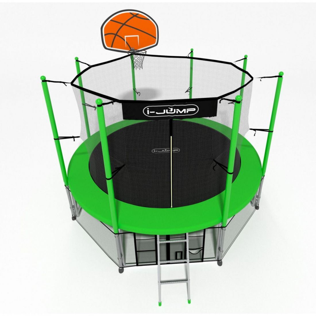 Батут i-Jump Basket 16ft green