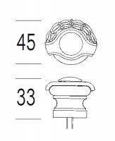 Дверной упор Salice Paolo Siena 301. схема