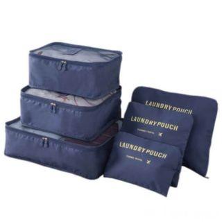 Набор дорожных сумок для путешествий Laundry Pouch, 6 шт, Цвет: Синий