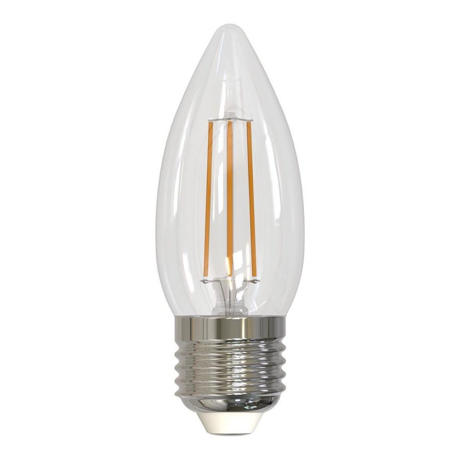 Лампа светодиодная филаментная диммируемая (UL-00003643) E27 5W 3000K прозрачная LED-C35-5W/WW/E27/CL/DIM