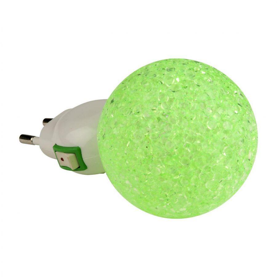 Настенный светодиодный светильник (10330) Uniel DTL-309-Шар/Green/1LED/0,1W