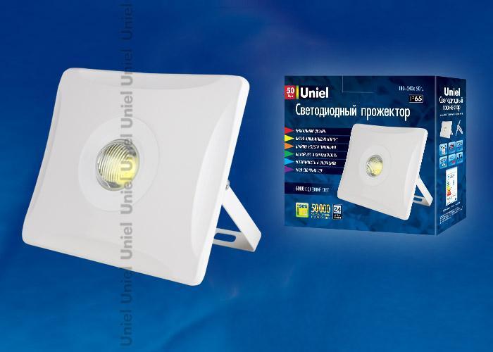 Прожектор светодиодный (UL-00000391) Uniel 50W 6000K ULF-F11-50W/DW IP65 180-240В White