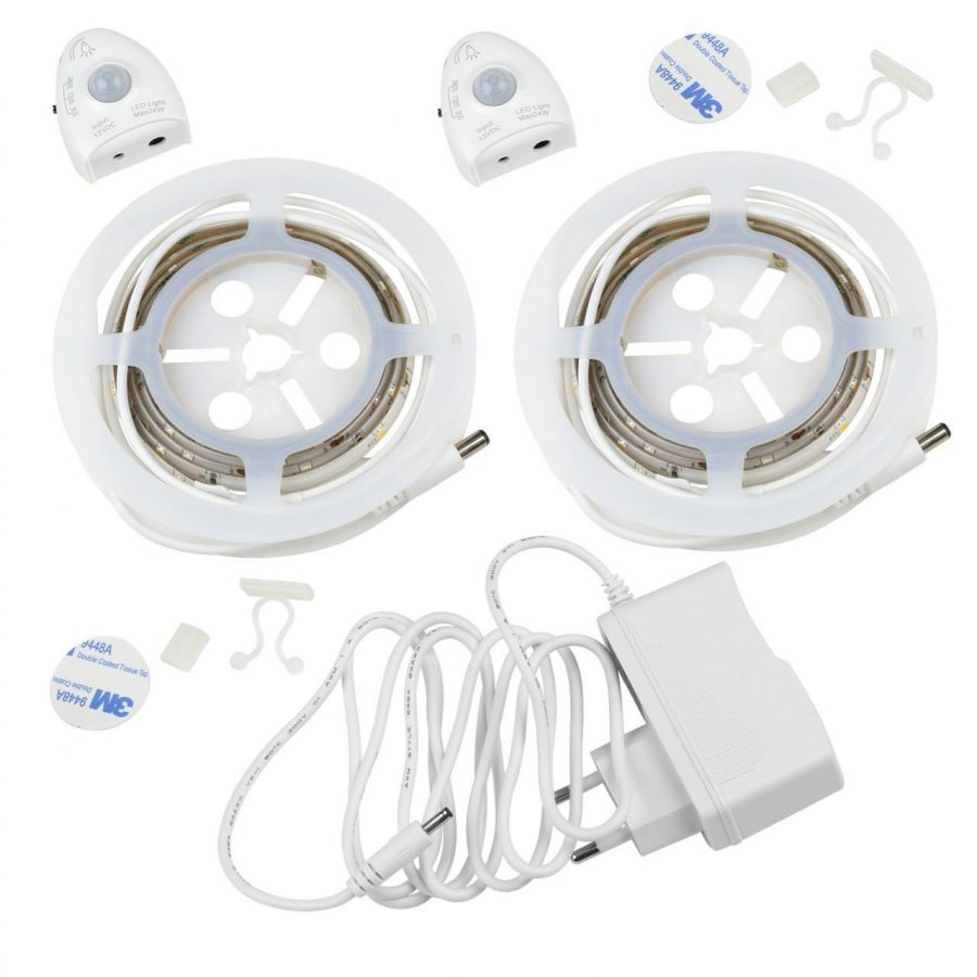 Светодиодная влагозащищенная лента (UL-00004448) Uniel 3W/m 30LED/m белый 2шт. х1,2М ULS-R02-6W/4000K/1,2Mx2/DIM SENSOR Smart Light