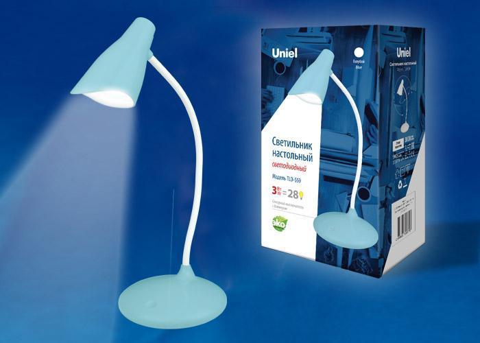 Настольная лампа (UL-00004142) Uniel TLD-559 Blue/LED/280Lm/5000K/Dimmer