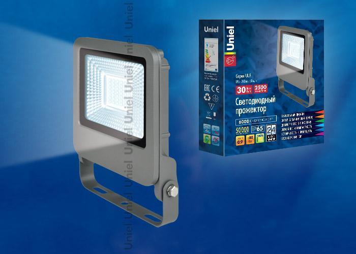 Прожектор светодиодный (UL-00002067) Uniel 30W 6000K ULF-F17-30W/DW