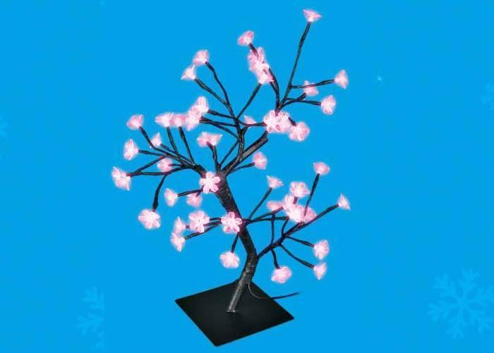 Светодиодное дерево Uniel 35x20x45см (UL-00001401) ULD-T3545-048/SBA PINK IP20 SAKURA