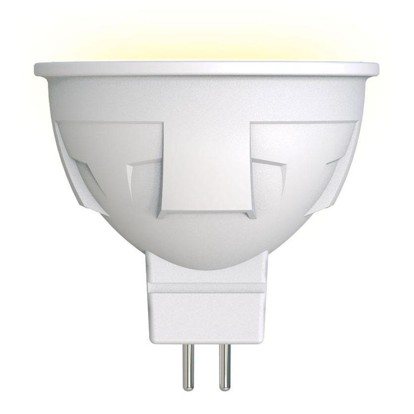Лампа светодиодная диммируемая (UL-00003991) GU5.3 6W 3000K матовая LED-JCDR 6W/WW/GU5.3/FR/DIM PLP01WH