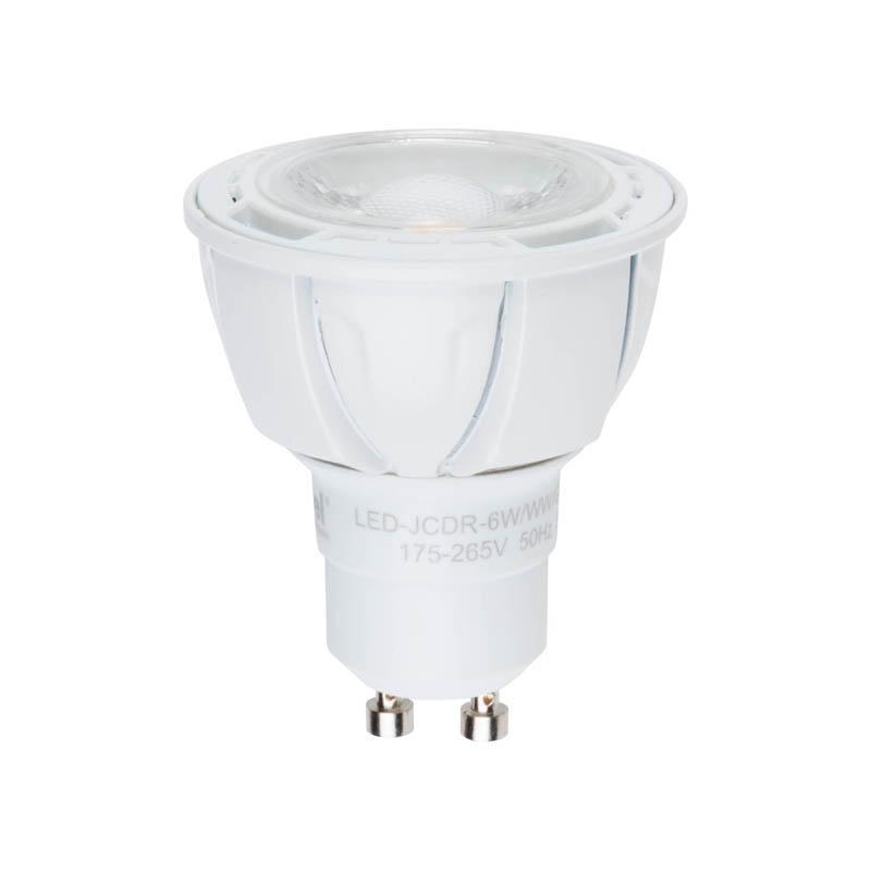 Лампа светодиодная диммируемая (UL-00003988) GU10 6W 4000K матовая LED-JCDR 6W/NW/GU10/FR/DIM PLP01WH