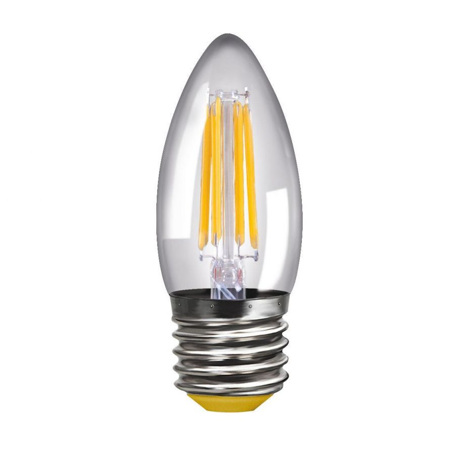 Лампа светодиодная филаментная E27 4W 4000К прозрачная VG10-C1E27cold4W-F 8335