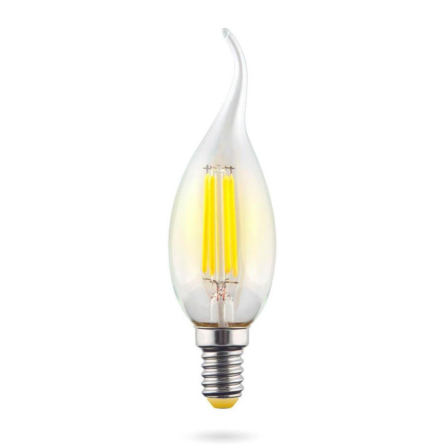 Лампа светодиодная E14 6W 2800К прозрачная VG10-CW1E14warm6W-F 7017