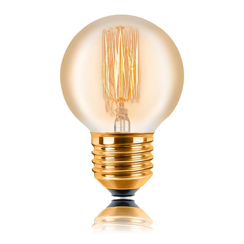 Лампа накаливания E27 25W золотая 053-723