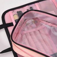 Дорожная косметичка со съёмным отделением Travel Bag, цвет Чёрно-розовый (6)
