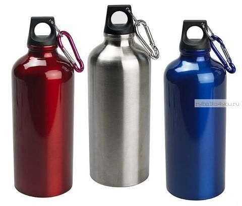 Бутылка питьевая 400мл, алюминий (3 цвета) (Артикул: TB-04 )