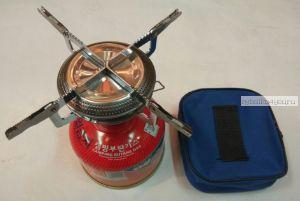 Портативная газовая плита на резьбовой баллон Кемпинг (Артикул: KL-S2 )