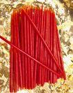 Свеча восковая Красная 15 х 0.5 см