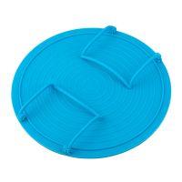 Многофункциональная подставка для подогрева блюд в микроволновке, 23 см, цвет голубой (3)