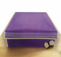 Складной короб для хранения с бантиком, 31х35х13 см