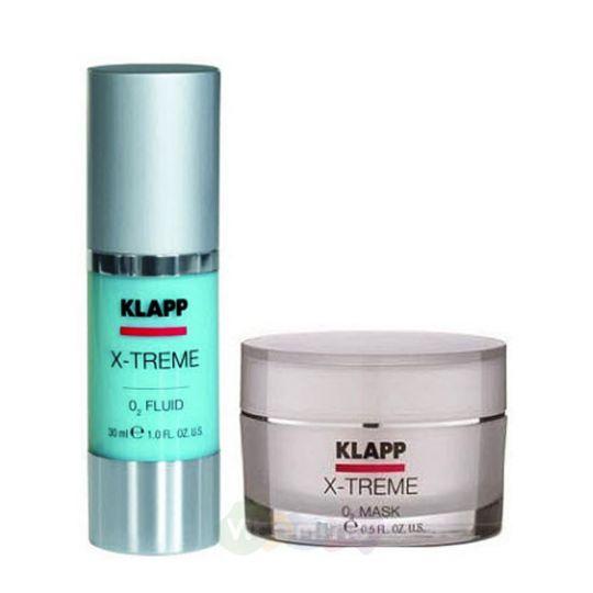 """Klapp Набор """"Флюид Ревитализирующий + Кислородная маска"""" X-Treme Face Care Set"""