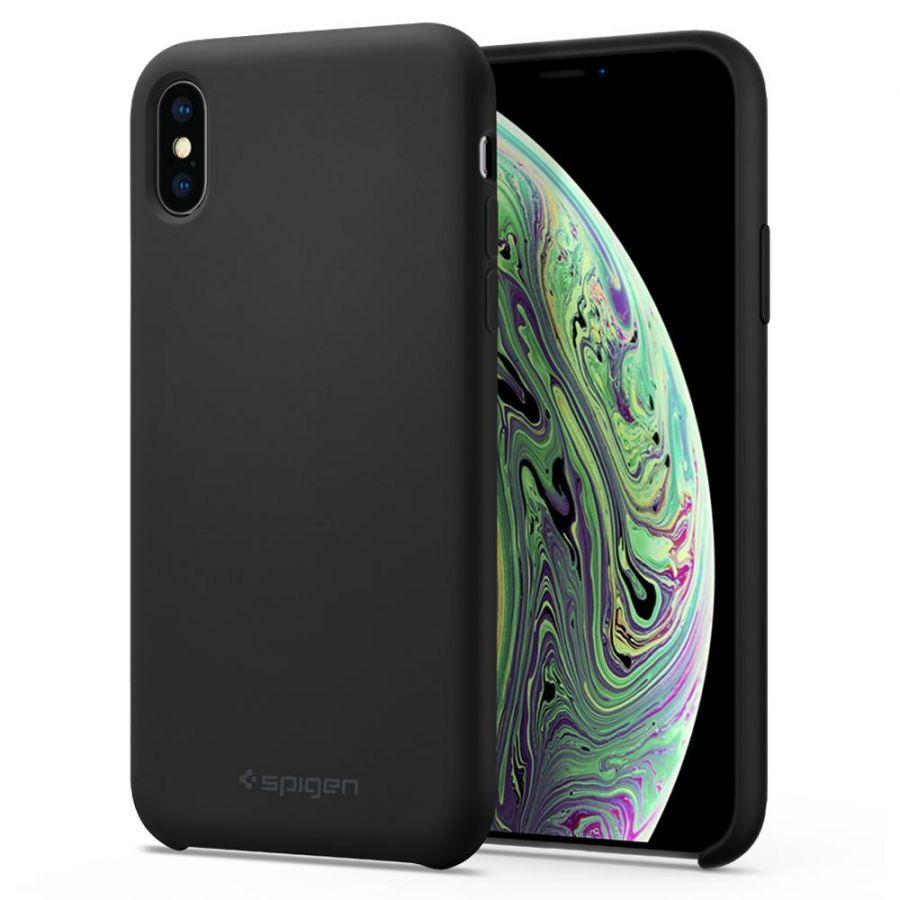 Чехол Spigen Silicone Fit для iPhone Xs / X черный