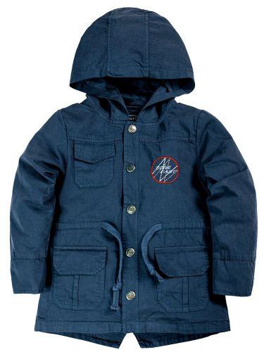Куртка-парка с капюшоном для мальчиков 1-4 лет Bonito темно-синий