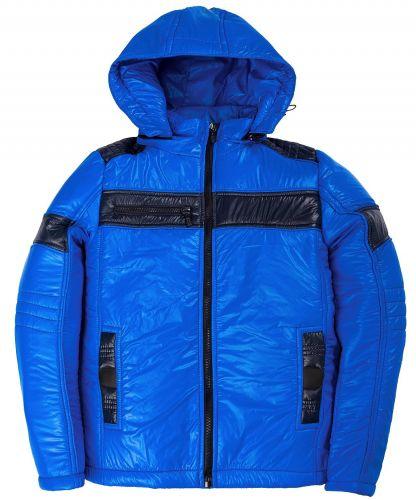 Утепленная куртка с капюшоном для мальчиков 9-12 лет Bonito синяя