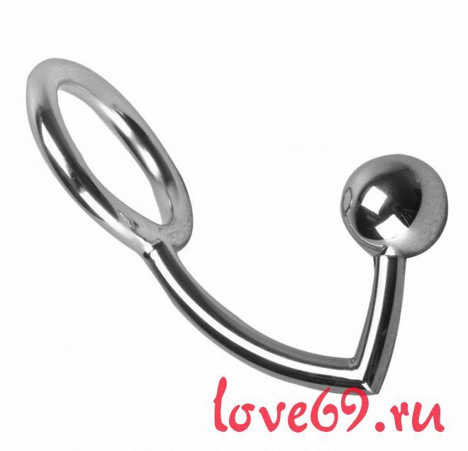 Металлическое эрекционное кольцо с анальным стимулятором The Manus Intrude