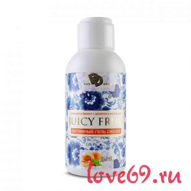 Интимный гель на водной основе JUICY FRUIT с ароматом дыни - 100 мл.