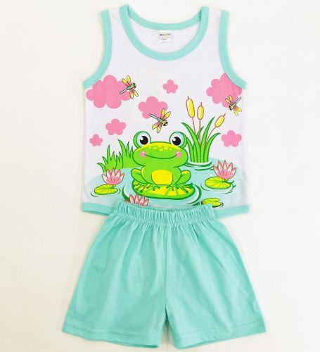 Майка и шоры для девочек 1-4 лет c лягушонком