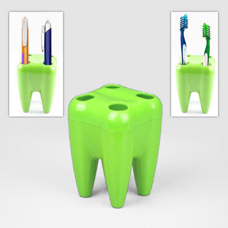 Органайзер Для Щёток Зуб, Цвет Зеленый
