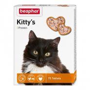 Beaphar Kitty's + Protein Кормовая добавка для кошек с протеином (75 табл.)