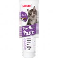 Beaphar Duo Malt Pasta Паста для выведения шерсти для кошек (100 г)